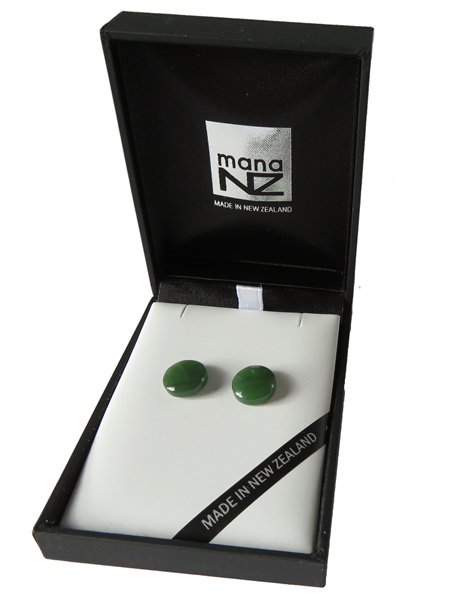 Small New Zealand greenstone stud earrings GS1111