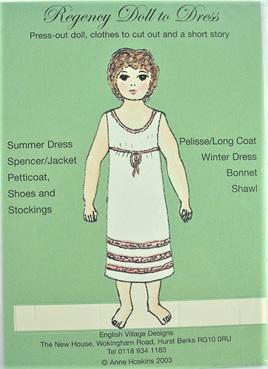 Small Paper Doll: Regency Girl