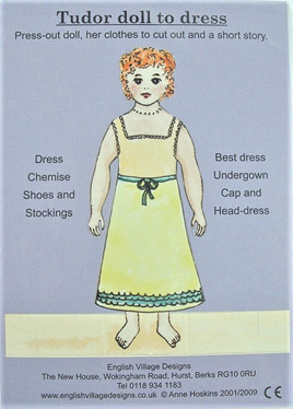 Small Paper Doll: Tudor Girl