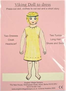 Small Paper Doll: Viking Girl