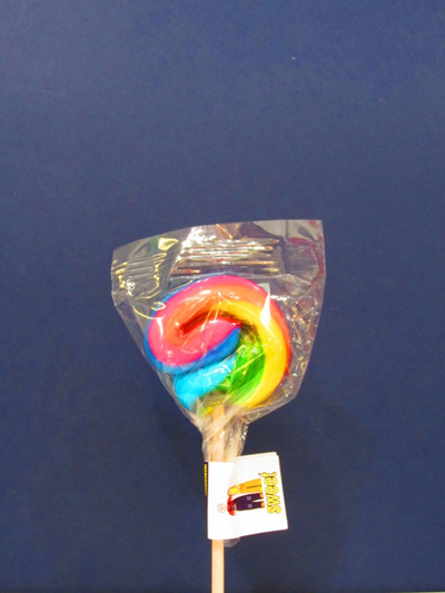 SMALL RAINBOW POP, ORANGE FLAVOUR. 5cm