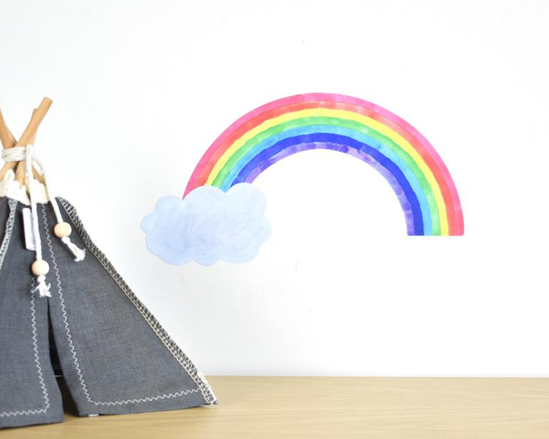 Small rainbow wall decal