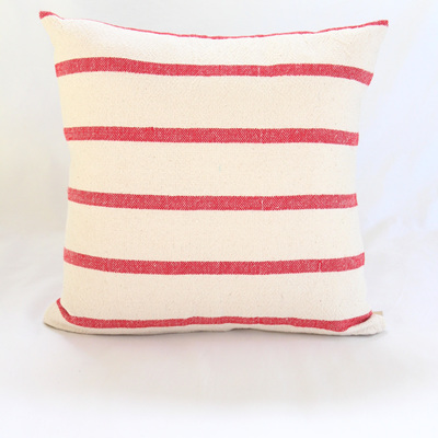 Small Red Stripe Cushion