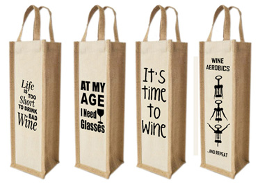 Small runs custom printed wine bags for promotions