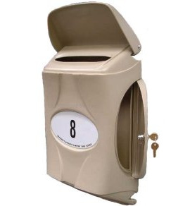 Small Secure Vandal Resistant Letterbox