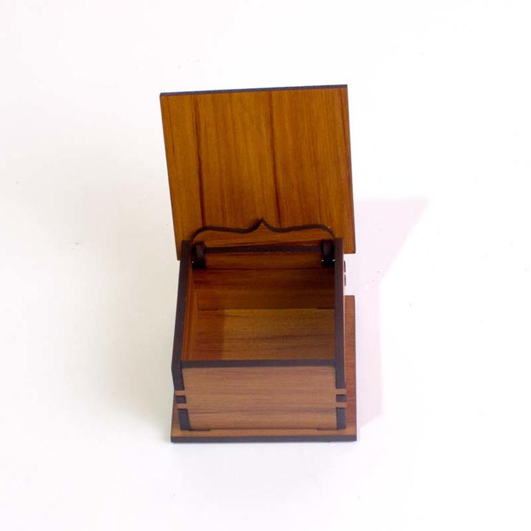 small square trinket box open