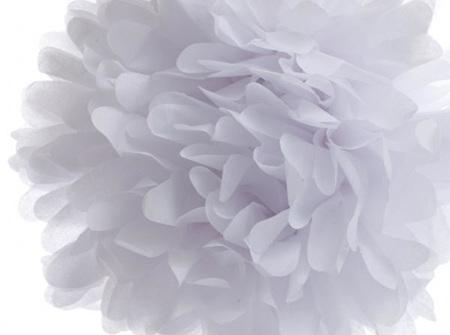 Small white pom pom - 21cm