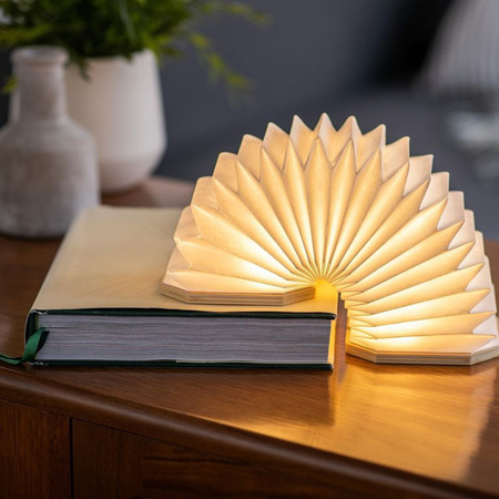 Smart LED Accordion Lamp - Walnut