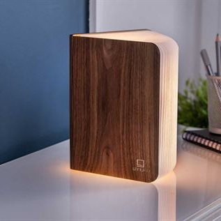 Smart LED Light Book - Walnut