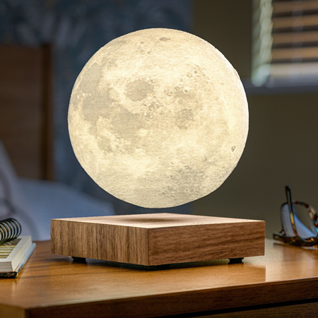 Smart Moon Lamp - Walnut
