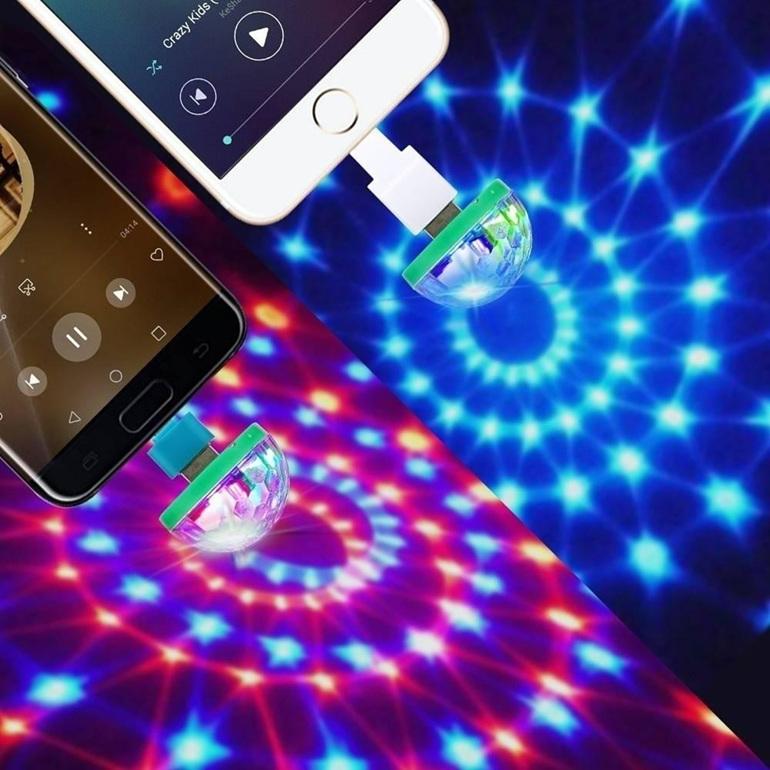 Home Disco Lights: Smart Phone USB Mini Disco Light