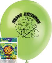 Smiling Safari Balloons pack of 8