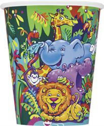 Smiling Safari Party Cups - Pack of 8