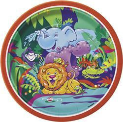 Smiling Safari party Plates - Pack of 8