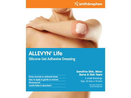Smith & Nephew Allevyn Lf Dres 10.3X10.3Cm 2/Cs Pk