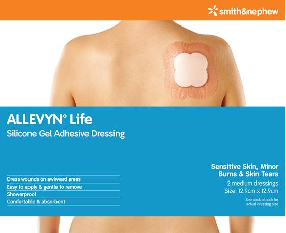 Smith & Nephew Allevyn Life Med 12.9Cm X 12.9Cm Pk2