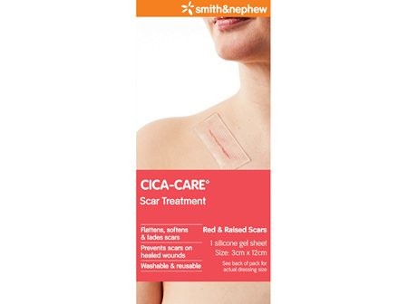 Smith & Nephew Cica-Care Sil Gel Sht 3Cmx12Cm Cs Pk