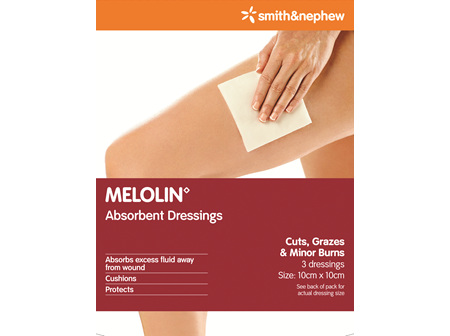 Smith & Nephew Melolin Abs Dres 10X10Cm 3/Cs Pk