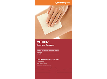 Smith & Nephew Melolin Absorb 10 X 10 Cm 100/Box