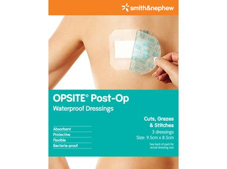 Smith & Nephew Opsite P/Op Dres 9.5X8.5Cm 3/Cs Pk