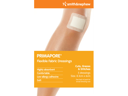 Smith & Nephew Primapore Dres 8.3X6Cm 5/Cs Pk