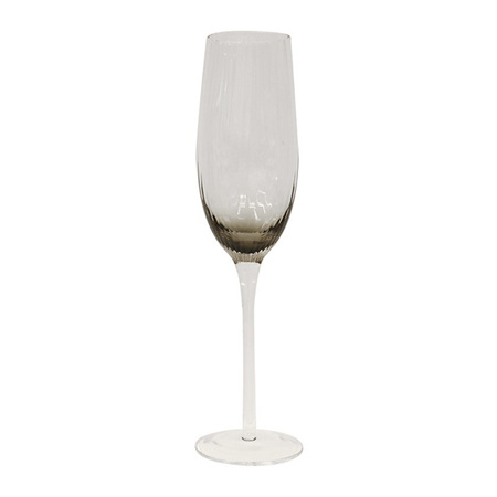 Smoked Champagne Glasses set 4