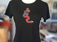 snake hand embroidered tshirt