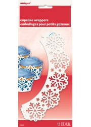 Snowflake Cupcake Wrappers x 12