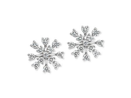 Snowflake Diamond Earrings