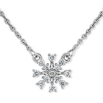 Snowflake Diamond Necklace
