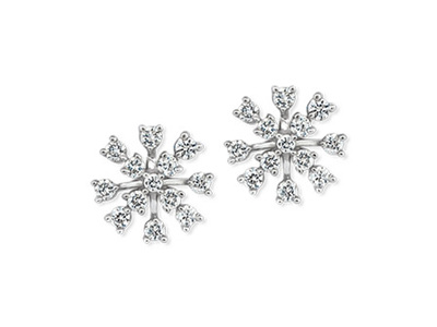 Snowflake Diamond Earrings