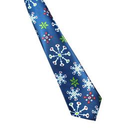 SNOWFLAKES BLUE CHRISTMAS NOLVETY TIE