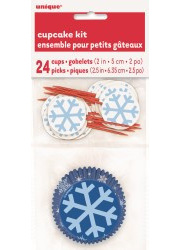 Snowflakes cupcake kit