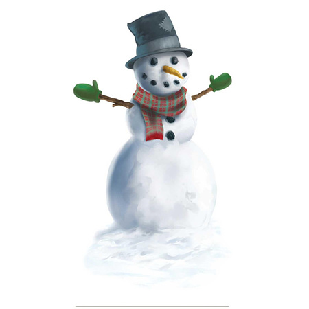 Snowman Peel & Place