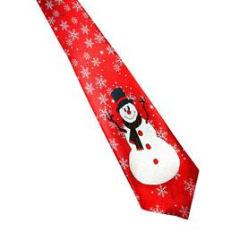 SNOWMAN & SNOWFLAKES CHRISTMAS NOLVETY TIE