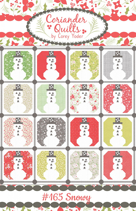 Snowy Quilt Pattern from Coriander Quilts