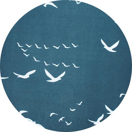 'Soar' Navy, GOTS Certified Organic Cotton Knit, 210gsm