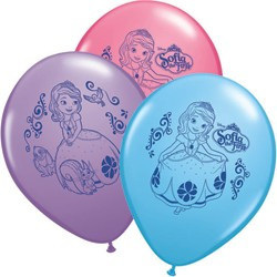 Sofia The First - pack of 6 Latex balloons 12""