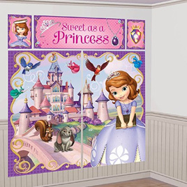 Sofia The First Scene Setter Wall Decorating Kit 5 piece