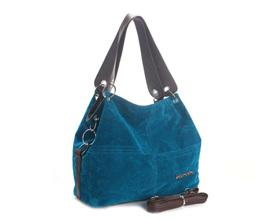 Soft Corduroy Vintage  Shoulder Handbag - BLUE