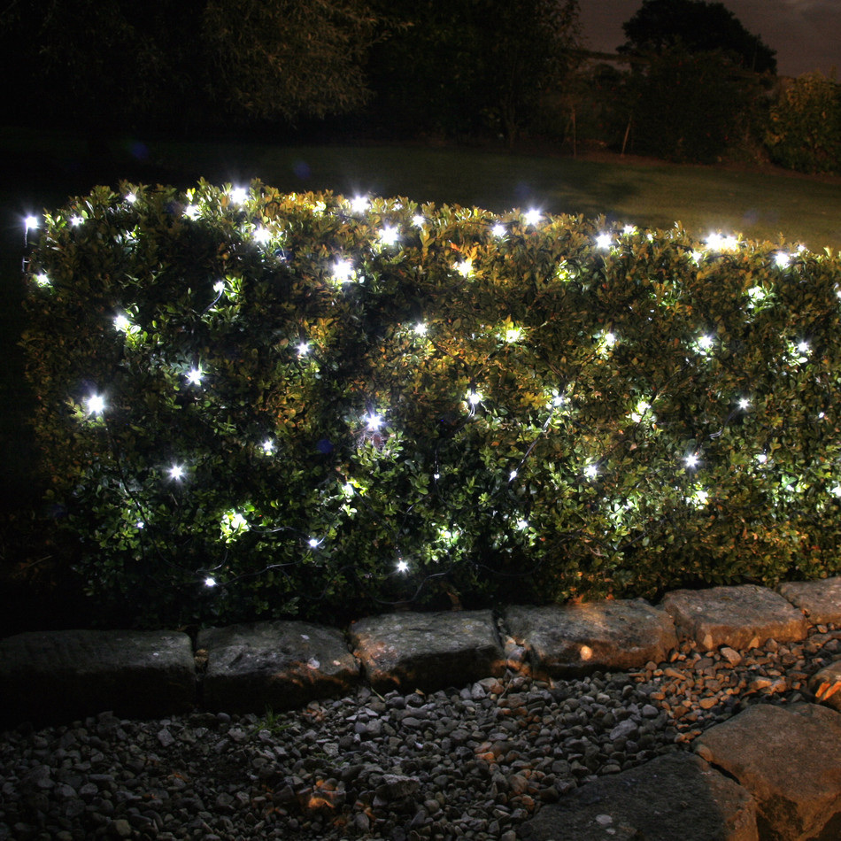 Solar Net Lights 1.3x1m 100 LED - White - Party Lights Company