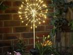 Solar Starburst Copper Wire Light 120LED 50cm Diameter - Warm White