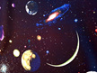Solar System Glitter - Planet (black)