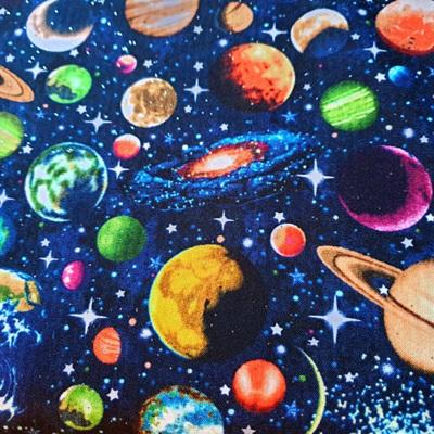 Solar System Glitter - Scattered Planets (blue)