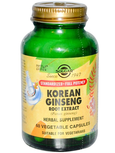 Solgar Korean Ginseng Root Extract, 60 Capsules