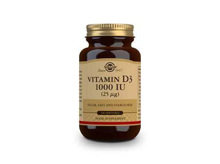 Solgar Vitamin D3 1000IU 100 SoftGels