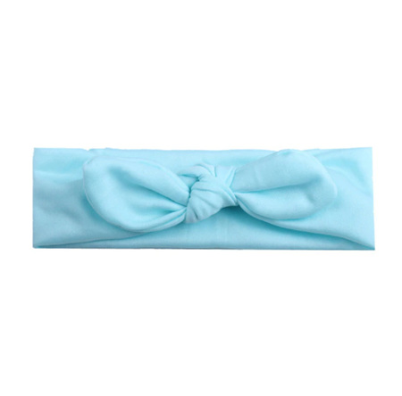 SOLID KNOT HAIRBAND - Light Blue