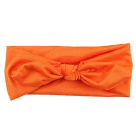 SOLID KNOT HAIRBAND - ORANGE