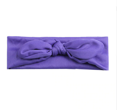 SOLID KNOT HAIRBAND - PURPLE