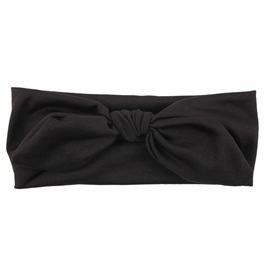 SOLID KNOT HEADBAND - BLACK